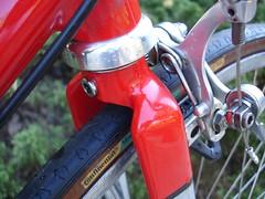 Serotta Fork Crown (tandemracer) Tags: serotta campagnolo steel road filletbrazed red chrome fork