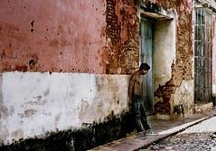 against the wall (Mr.  Mark) Tags: deleteme5 man color colour wall bravo savedbythedeletemegroup been1of100 bricks topv999 cuba saveme10 500v50f 500plus20 trinidad topf100 fivestargallery winnerflickrsweeklythemecontest abigfave flickrchallengegroup flickrchallengewinner markboucher world100f