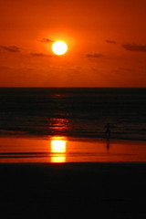 squared sun (Farl) Tags: sun sunset square circle reflections refraction orange red colors sea sand beach kuta bali indonesia sky mirage illusion