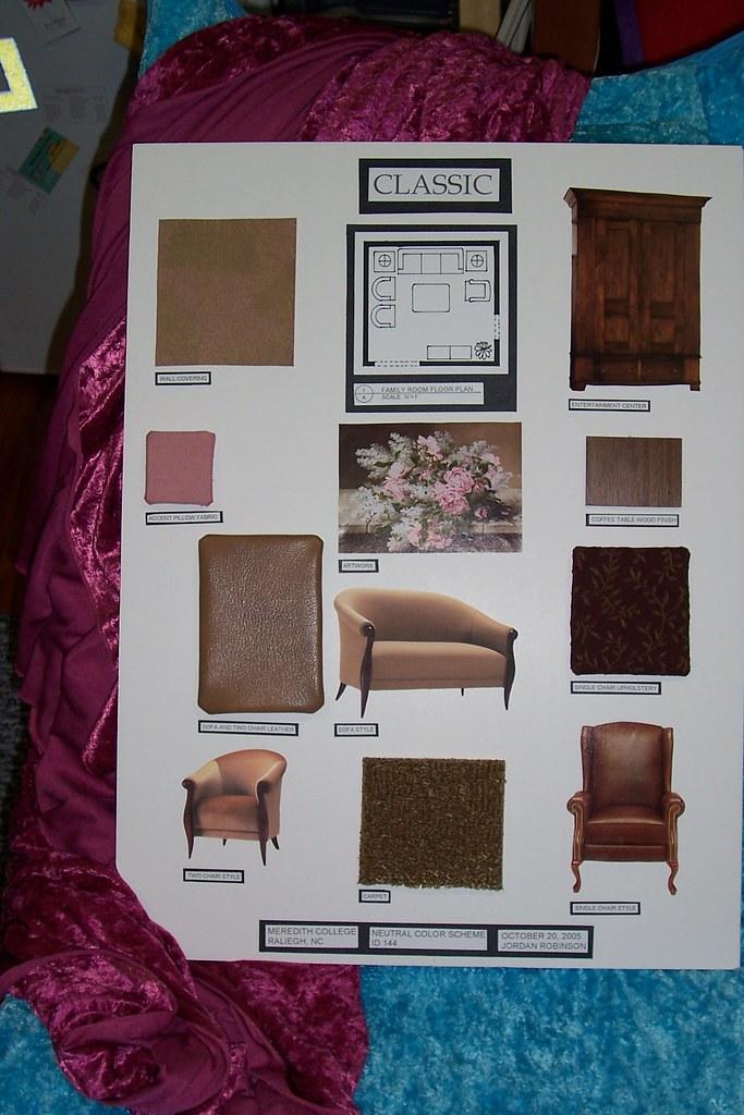 living room/ den interior design board