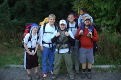 Setting Out (Mark Griffith) Tags: me hiking hike scouts backpack milesgriffith campout christianrennie youngmen overnighter markgriffith davidpotts acitivity kodyhayes trevordowns hikingbuddy