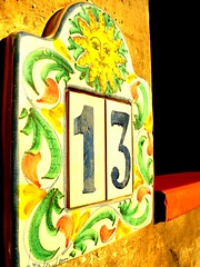 Luck or bad luck? (Ezu) Tags: 13 number sun morninglight housenumber sicily menfi italy