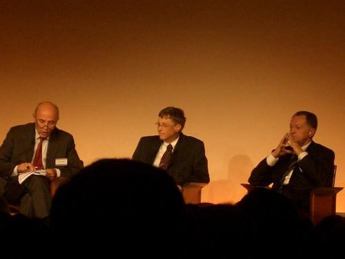 Bill Gates et Jean-Michel Aulas (Cegid)