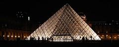 postcard snapshot (Mollivan Jon) Tags: pyramid musedulouvre artmuseum museum palace louvre paris france glass panorama night mollivan