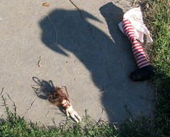 adarkshadow (mittens oh my!) Tags: shadow doll leg amputee dog carnage