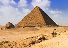 Pyramids of Giza, Cairo (Goldmanoz) Tags: egypt cairo pyramids giza desert africa sand urfavslandscape architecture buildings cities hieroglyphics nile locals local muslim travel topv111 100views tag1 tag2 tag3 taggedout 200views 1025fav