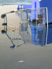Dejected Shopping Cart (Curtis Gregory Perry) Tags: 2005 auto canada abstract bus cars abandoned wet water eh strange goofy bike wheel trash photoshop altered shopping puddle drive weird moving bucket cool garbage agua junk october automobile colorful aqua driving different ride desert dorky good decay awesome parking debris wheels transport ruin engine lot nougat tire roadtrip automotive move canadian september vehicles abandon transportation stupid depressed princeedwardisland trucks unusual autos aquatic cart splash damaged poutine wacky distressed destroyed pei deserted bizarre automobiles charlottetown blight dilapidated fuckedup abused h20 crumbling canadien canuck trashed ruined conveyance watery convey misused dinged slightlyoff dissimilar notalike aboot