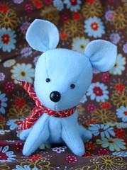a blue puppy