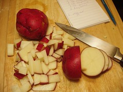 3 red potatoes