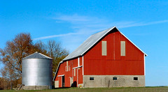 Red Barn and Blue Sky