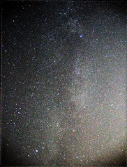 Milky Way dividing light from darkness