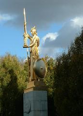 Statue near Porte Dore (Happy A) Tags: paris france gold statue