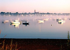 030731-015.1o Dawn Fog (rowland-w) Tags: dawn fog harbor calm tranquil morning mist sunrise marblehead massachusetts usa boats reflection shoreline