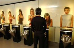 Let's say the word 'pee' in unison... and then. (Eric Rice) Tags: pee urinals sofitel uneasysilence snopes weewee