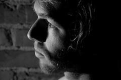 Colin 2 (.brian) Tags: colin handyman man portrait face blackandwhite person brick