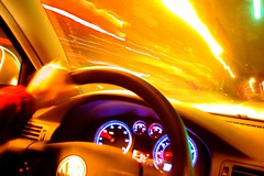 driving is fun (it pays well too!) (Ben McLeod) Tags: longexposure car vw night volkswagen interestingness published driving flickrimportr passat steeringwheel utatafeature nikonstunninggallery 3000v120f