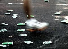 NYC Marathon (.brian) Tags: foot running nycmarathon trash street exercise shoe leg