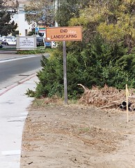 Landscaping in Linda Vista (jvonr) Tags: 2003 sign sandiego landscaping september sgns 200309 20030926 lindavista travelphotos strangeandfunnysigns signsandposters schilderschmildersigns