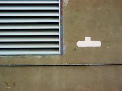 Vent Left (splorp) Tags: canada calgary metal wall concrete vent paint louvre cement alberta conduit linear urbanmarkup bridgeland