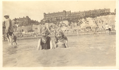 Two Laughing Girls #2 Broadstairs Beach, England (mrwaterslide) Tags: old vintage kent antique snapshot vernacular broadstairs