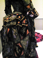 Img_1115 African-Styled Fabric, European Fashion-Detail (Lanterna) Tags: newyorkcity art fashion museum clothing dress african political moma africanamerican cuff bustle lanterna commentary shonibare canonpowershota75 politicalart