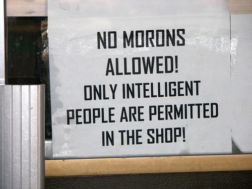 No Morons Allowed