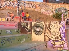 Skate or sit (Javier Graf) Tags: 2005 graffiti character skatepark skate alive silueta getxo guecho arrigunaga algorta dopplr:explore=cds1