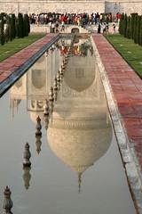 The Taj Mahal Reflected, Late Afternoon (Bill in DC) Tags: 2005 15fav india topv111 1025fav 510fav searchthebest tajmahal agra 100v10f fv5 most eos20d nge bestdigitalphotography favorites15 views400 views300