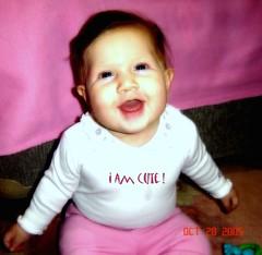 i am cute! (Kara Kedi) Tags: cute pembe pink iamcute