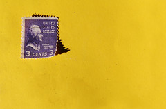 cancelled (helveticaneue) Tags: 2005 november yellow purple pennsylvania walk yes stamp boilingsprings centralpa centralpennsylvania alamy freeporchsale 3cents kicey laurakicey pflg