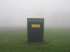 Danger on a misty morning (squacco) Tags: grass danger highvoltage mistymorning actuallyitsprobablyfog butidmissthealliteration iloveweatherme bigamist insesbvbncjkfjgkhjkhbn