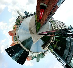 Panorama Kopenhagen - the little world (frischmilch) Tags: world trip panorama holiday art architecture buildings copenhagen river geotagged denmark image little manipulation malmoe round stunning danmark kopenhagen kbenhavn globus kopenhagenmalm2005 nikonstunninggallery geolat55672188 geolon12583439