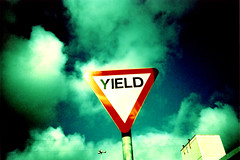 YIELD (Maya Newman) Tags: life from sky colour sign contrast wow that real lomo lca xpro maya god who pearljam yield says magnumesque gloomyheart thenicethingaboutthekevincorazzathingforyou isthatyouhavethenegativetoproveitd