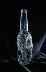 Corona Bottle (Mika Anderson) Tags: highspeed smashening glass bottle