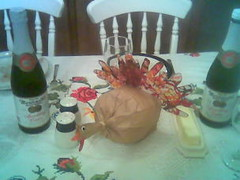 Turkey and sparkling apple, oh my! (She spoke Kung FU!) Tags: thanksgiving05 dinner settings