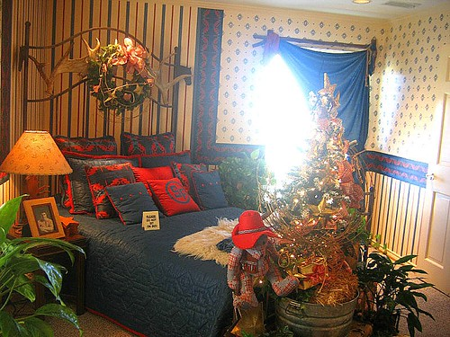 Bobby's room. Southfork Ranch. Dallas TX. December 2005