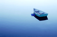Boat (kathyv) Tags: ocean blue water boat bravo quiet searchthebest dusk massachusetts rope row atlantic getty serene tranquil rockport 123hallofame utatablue gettyselection