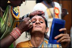 Hijra beauty contest - make-up - Chennai (Maciej Dakowicz) Tags: gay india beauty sex aids hiv contest makeup homosexual chennai tamil gender transsexual nadu hijra aravani