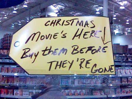 christmas movie's sign