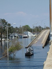 Bush's Boat Ramps (Lindsay Beyerstein) Tags: rescue katrina search flood neworleans hurricane hurricanekatrina badge freeway nola fanboat ninthward