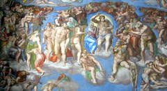 Michelangelo -  The Last Judgment (Pierre Metivier) Tags: italy vatican rome topv2222 painting europe italia topv1111 topv5555 michelangelo topv9999 topv3333 topv4444 chapelle cappella museivaticani topv8888 topv6666 sistina topv7777 sixtine canons80