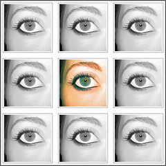 occhio (laMiky) Tags: blue eye art me face square ps io occhio micaela composizione miky lamiky lamiky©