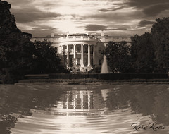 Reflection on White House (L) (Kris Kros) Tags: california ca bw usa white house black reflection public water cali la washingtondc us dc washington losangeles interestingness cool interesting bush pix nw unitedstates pennsylvania united president whitehouse 1600 socal illusion kris states avenue jjj kkg kros kriskros 20500 nonhdr kk2k kkgallery