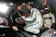 Kyle Petty and Carl on top of cars (mbennett - Carl Edwards) Tags: nascar kylepetty carledwards