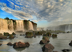Foz Do Iguacu at Sunset (Sam's Exotic Travels) Tags: sunset brazil brasil sam falls sams travelphotos igussa specland samsays samsexotictravelphotos exotictravelphotos samsayscom
