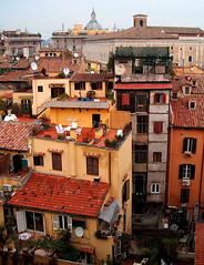 Layers... (Trapac) Tags: windows winter red italy orange rome roma yellow buildings italia terracotta terraces spire dome shutters balconies satelitedish aerials ybp explored dontgiveapopolo7 agreeafee flickrcollectionongetty