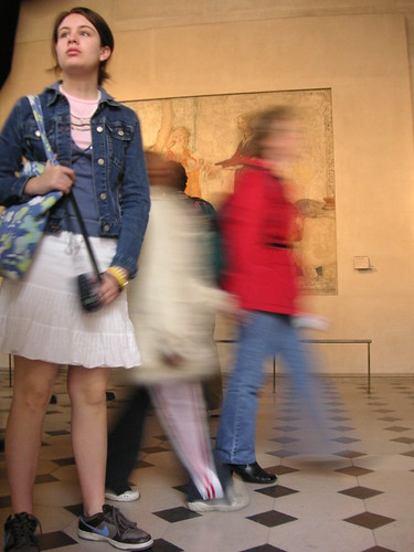 Girl in Museum with Movement