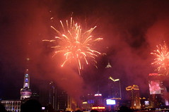 Fireworks at the Shanghai bund