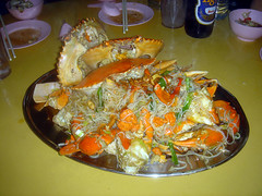 Fried Rice-Vermicelli with Crabs