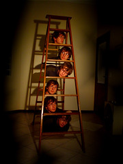 degrais surreais (Hugo Chinaglia) Tags: topv111 stair steps surreal heads nonsense 99wordssurreal